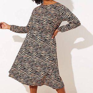 LOFT Plus Tiger Stripe Bar Back Dress ❣️NWT❣️